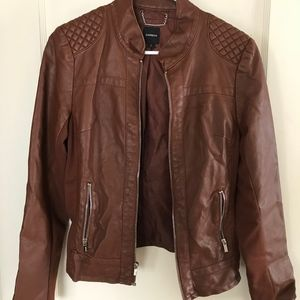 EXPRESS minus the leather Moto jacket brown